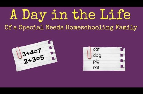 A Day in the Life of a Special Needs Homeschooling Family